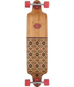 Globe Bannerstone Bamboo Longboard Complete Red/Bamboo 41 x 9.75in