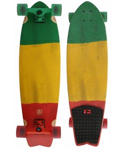 Globe Chromantic Longboard Skateboard Rasta Flag