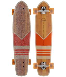 Globe Del Rey Bamboo Cruiser Skateboard Complete Bamboo/Orange 8.5 x 36in