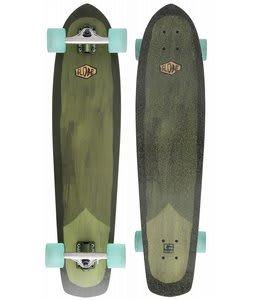 Globe Del Rey Longboard Skateboard Green/White