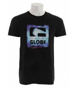 Globe Overpaint Slim T-Shirt Black