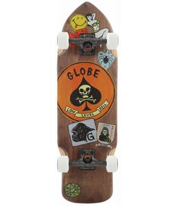 Globe Shank Longboard Skateboard Complete Brown 