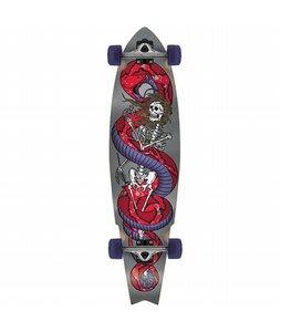 Globe Snake Dance Cruiser Longboard Skateboard Complete Silver
