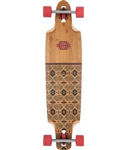 Globe Spearpoint Bamboo Longboard Complete Red/Bamboo 9.875 x 40in