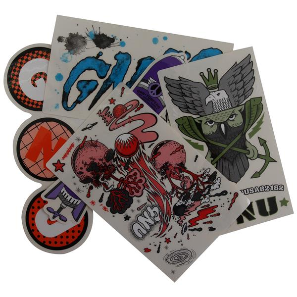 GNU Med 5pk Stickers