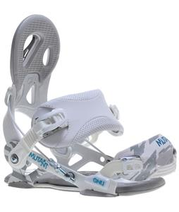 GNU Mutant Snowboard Bindings White