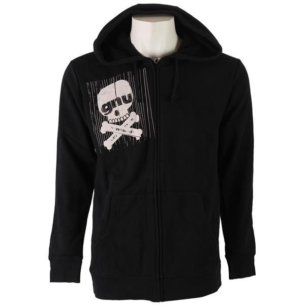 GNU Skull Zip Hoodie