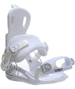 GNU Street Snowboard Bindings White