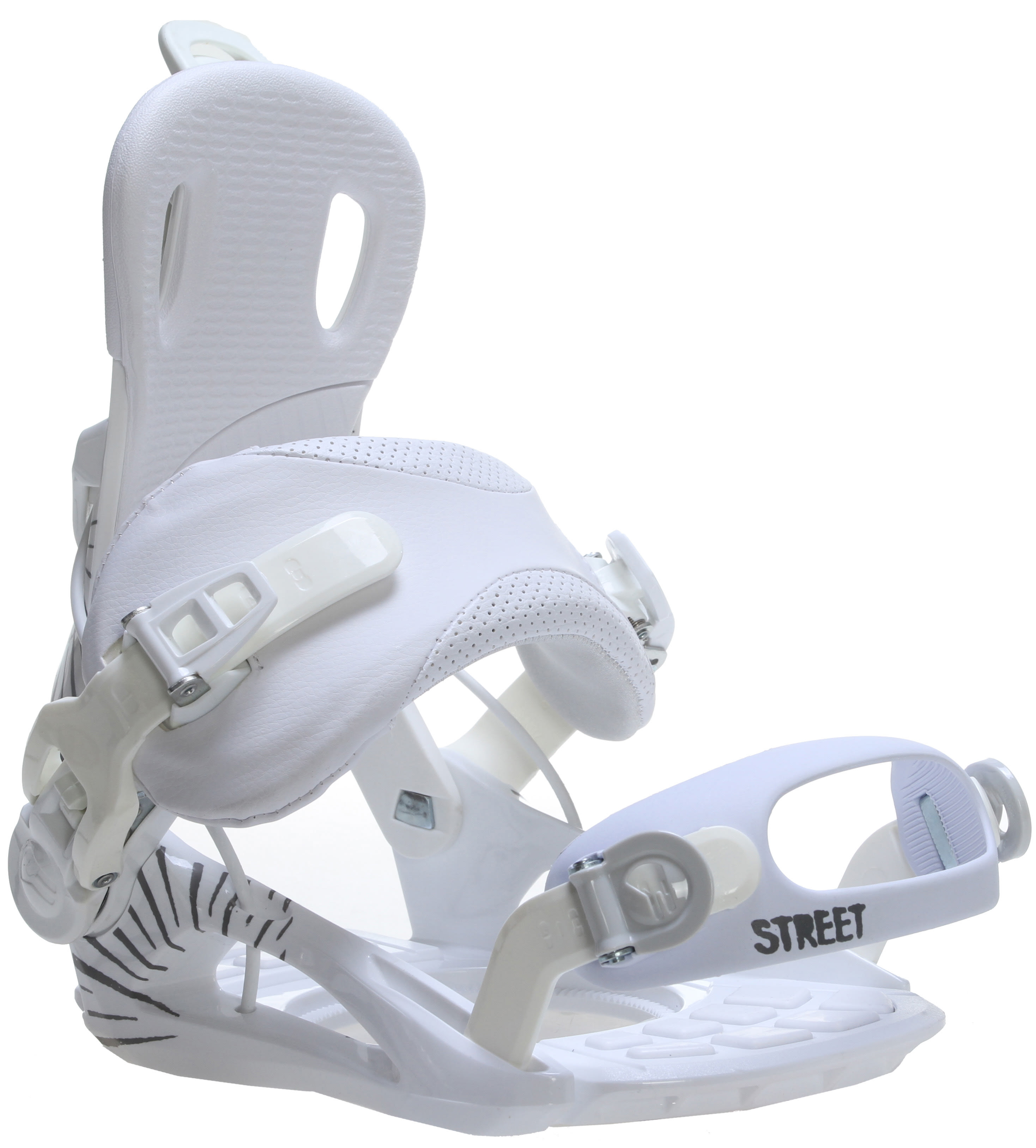 GNU Street Snowboard Bindings White Mens Sz S (4-7)