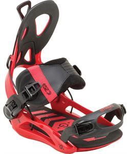 GNU Street Snowboard Bindings Red