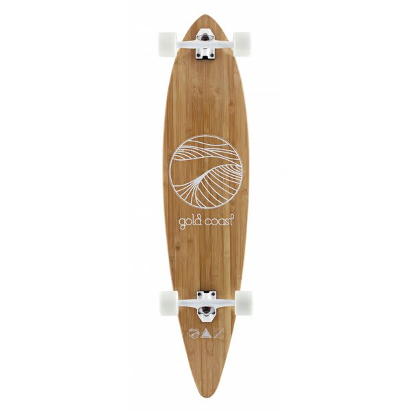 Gold Coast Classic Bamboo Floater Longboard Skateboard Complete