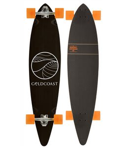 Gold Coast Classic XL Longboard Complete Black/Orange
