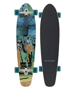 Gold Coast Rebirth Moon Longboard Skateboard Complete