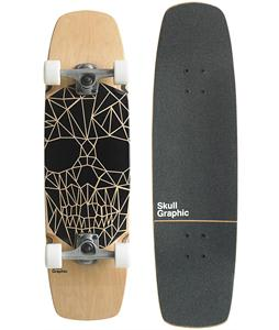 Gold Coast Skull Graphic Longboard Complete