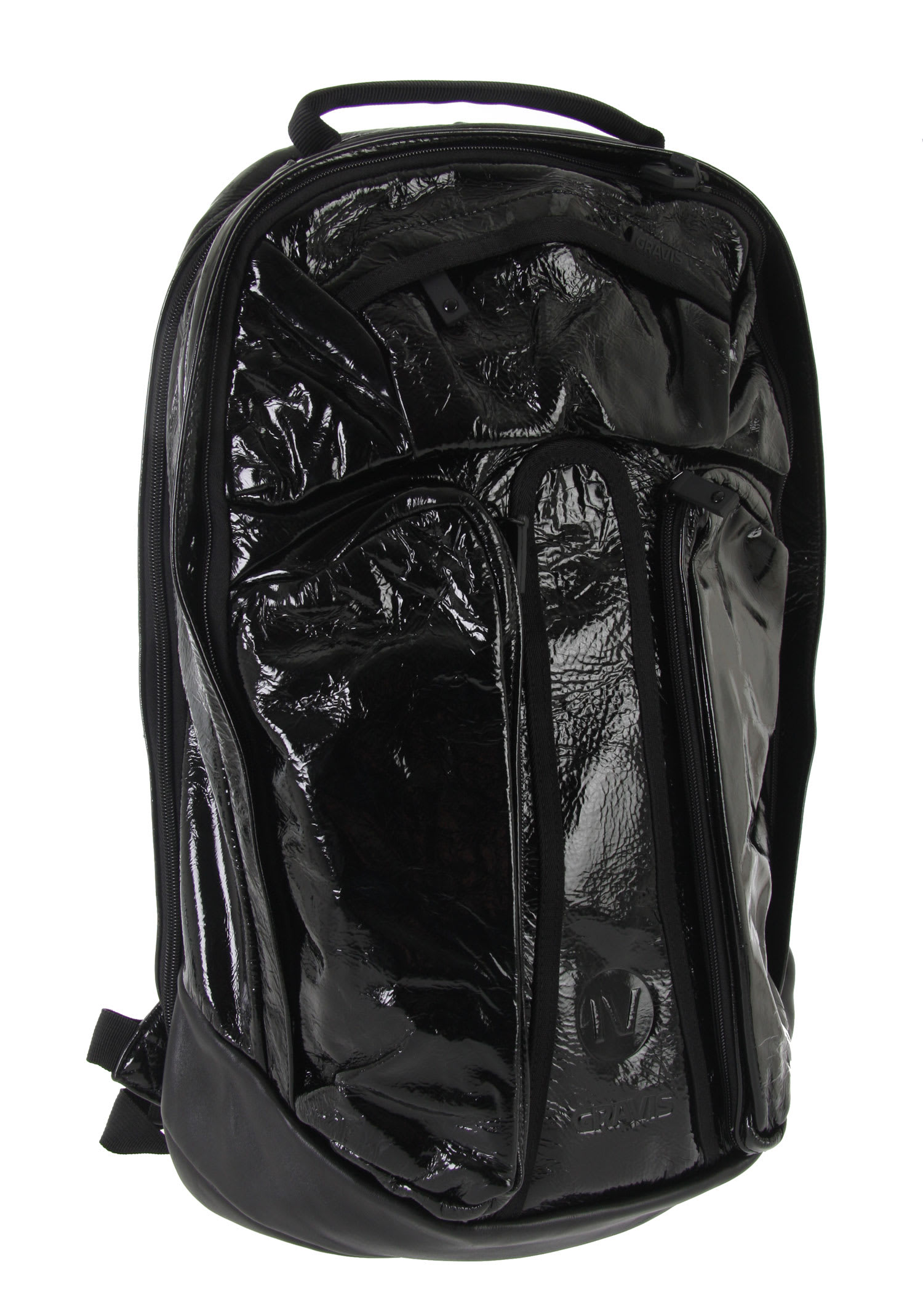 Shop for Gravis Metro Black Box Backpack Black Leather - Men's