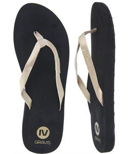 Gravis Spritzer Sandals Black/Gold