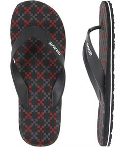Gravis Waterpipes Sandals Black Red Ops
