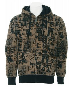 Grenade Skelter Zip Hoodie Black/Grey