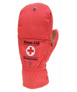 Grenade Gren Aids Mittens Red