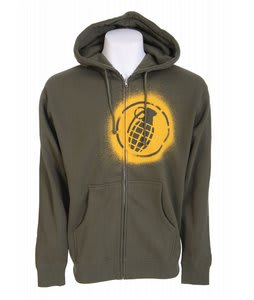 Grenade Spray Full Zip Hoodie Green
