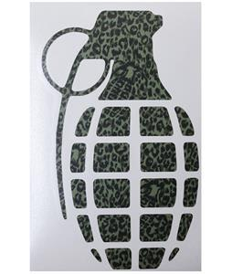 Grenade 8.5in Die Cut Sticker Camo Leopard