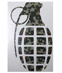 Grenade 8.5in Die Cut Sticker Classic Camo