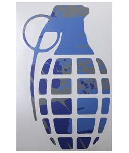 Grenade 8.5in Die Cut Sticker Deep Blue