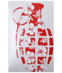 Grenade 8.5in Die Cut Sticker Hawaiian