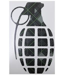 Grenade 8.5in Die Cut Sticker Pattern Black