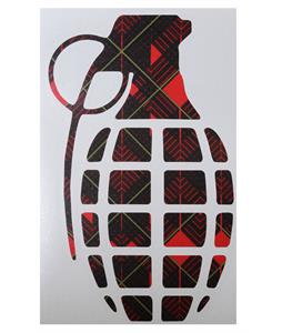 Grenade 8.5in Die Cut Sticker Pattern Red