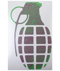 Grenade 8.5in Die Cut Sticker Print
