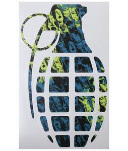 Grenade 8.5in Die Cut Sticker Scream