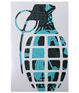 Grenade 8.5in Die Cut Sticker Sharp Shooter Aqua