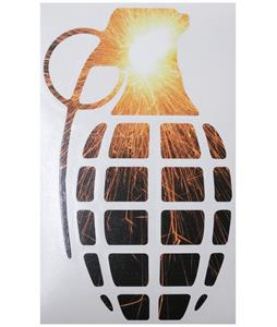 Grenade 8.5in Die Cut Sticker Sparkle