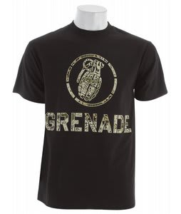 Grenade Battle Camo T-Shirt Black