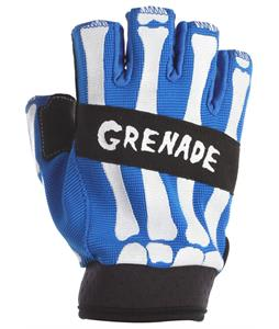 Grenade Bender Fingerless Bike Gloves Blue