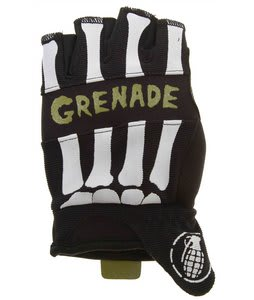 Grenade Bender Fingerless Bike Gloves Black/Lime