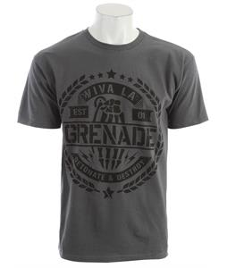 Grenade Black Viva La Crest T-Shirt Charcoal