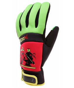 Grenade Bob Gnarly Gloves Red