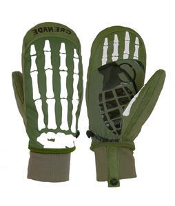 Grenade Bones Mittens Army