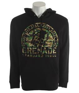 Grenade Camo Crop Hoodie Black