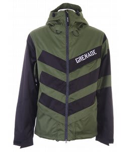Grenade Chevron Snowboard Jacket Green