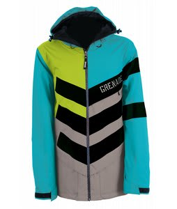 Grenade Chevron Snowboard Jacket Teal