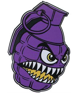 Grenade Chomper Sticker Purple 4In