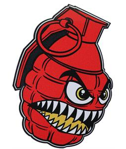 Grenade Chomper Sticker Red 4In