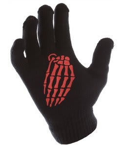 Grenade Crypt Knit Gloves Red