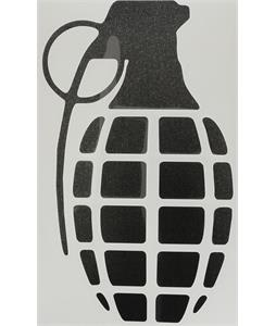 Grenade Die Cut Individual Grenade Stickers Black 8.5in