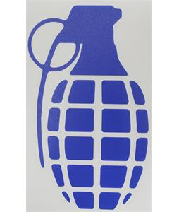 Grenade Die Cut Individual Grenade Stickers Blue 8.5in