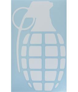 Grenade Die Cut Individual Grenade Stickers White 8.5in