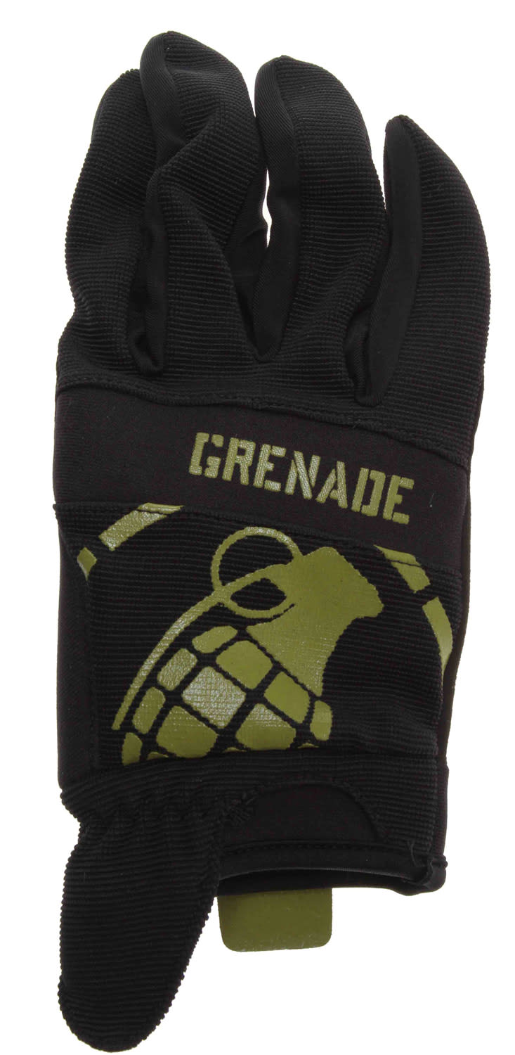 Shop for Grenade Disobey Bike Gloves Black/Lime - Men's